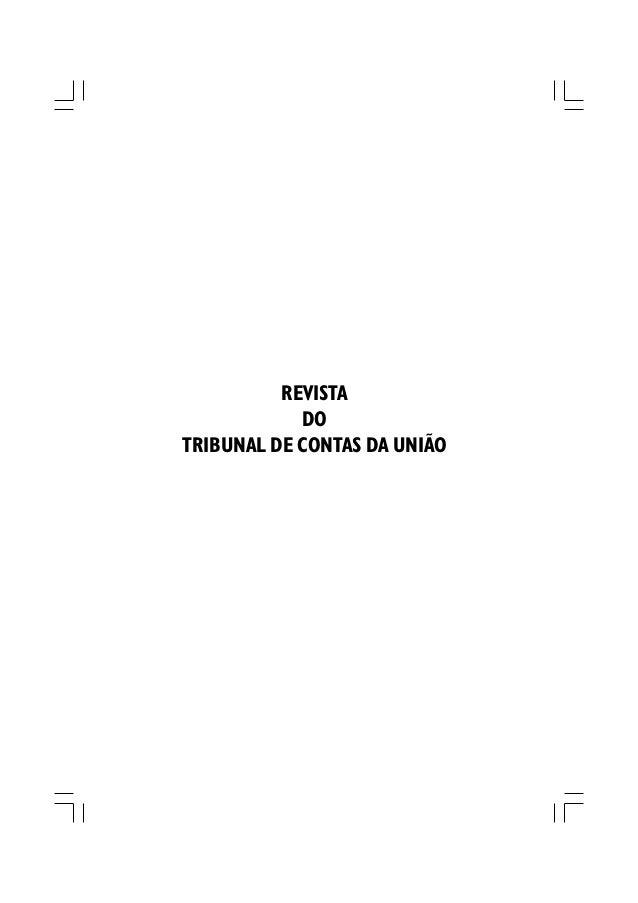 REVISTA            DOTRIBUNAL DE CONTAS DA UNIÃO