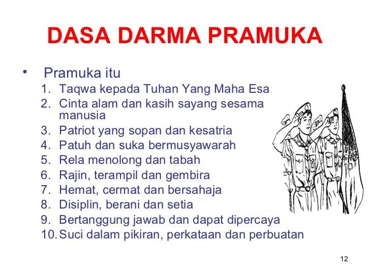 Bahasa Indonesiaku: DASA DHARMA PRAMUKA PENEGAK