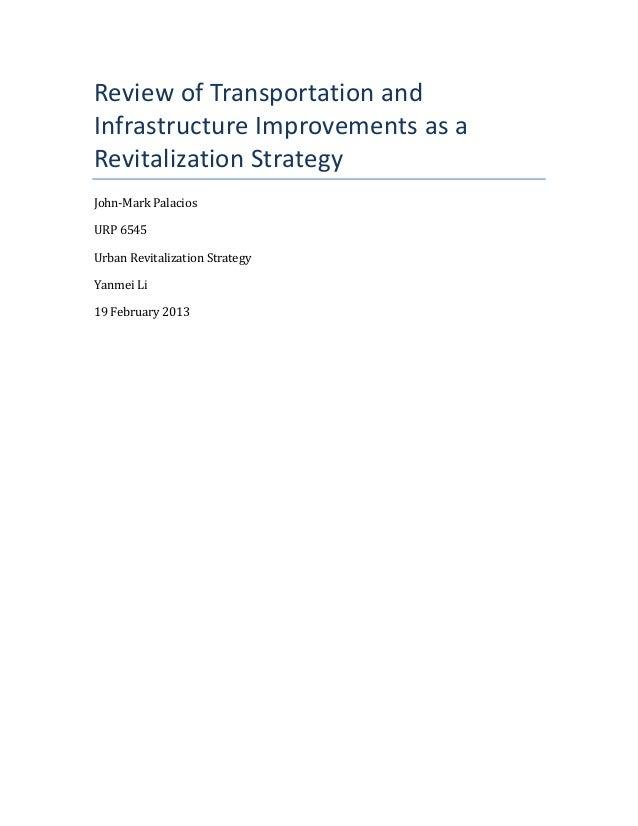 Transportation as Revitalization Strategy