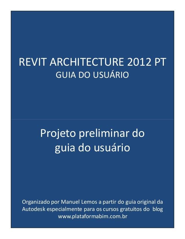Revit architecture 2012_pt_projeto_preliminar