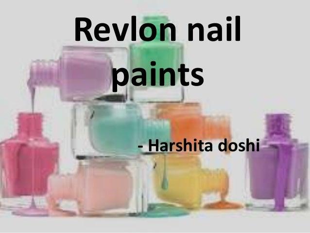 marketing of Revlon nail paints