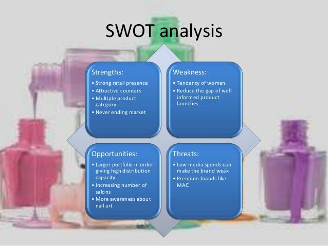 swot matrix of revlon inc The company become and remain the largest cosmetics and beauty company l' oréal is  the importance of market analysis in all business areas, the corporate.