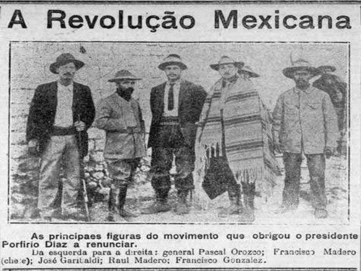Porfírio Díaz, após golpe militar em 1876     permaneceu no poder até 1911. A economia mexicana baseava-se na agro-  expor...