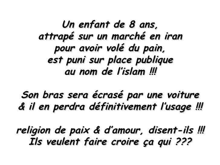 Un enfant de 8 ans, attrapé sur un marché en iran pour avoir volé du pain, est puni sur place publique au nom de l'islam !...
