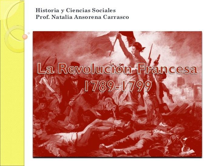 Historia y Ciencias Sociales  Prof. Natalia Ansorena Carrasco