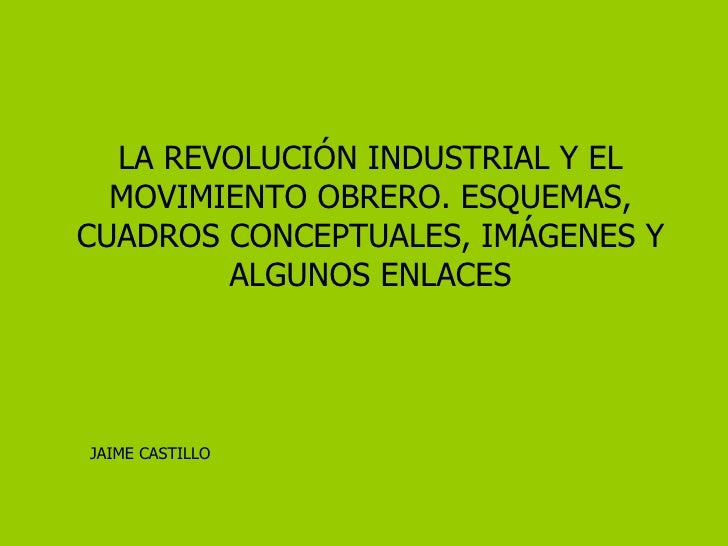 Revolución industrial y movimiento obrero