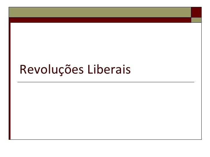 Revoluções Liberais