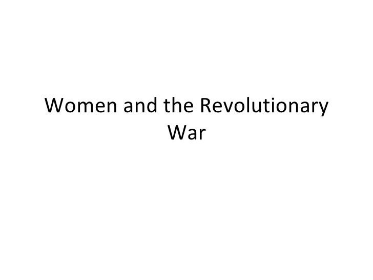 Women and the Revolutionary War