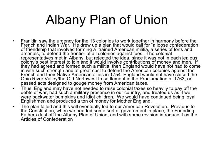 History Term Paper Topic?? Topic- Albany Plan of Union?