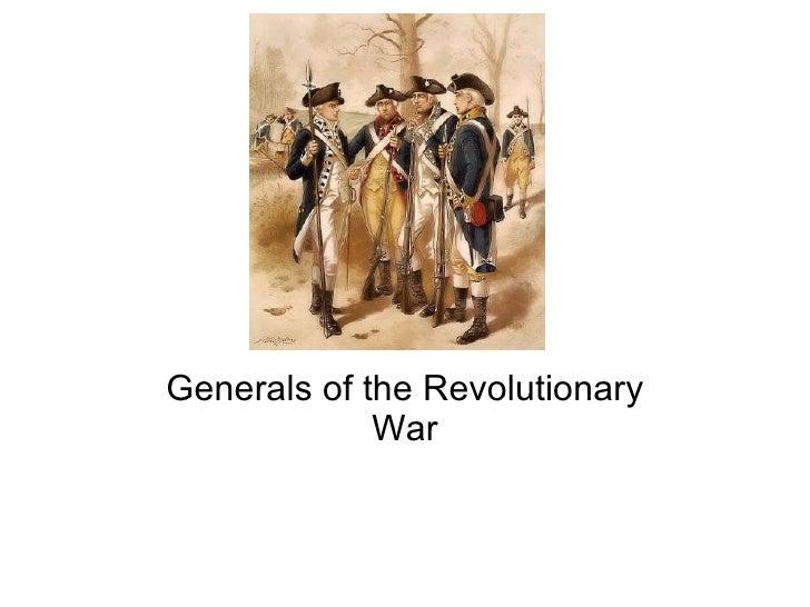 Generals of the Revolutionary War
