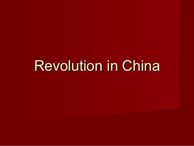 Revolution in ChinaRevolution in China