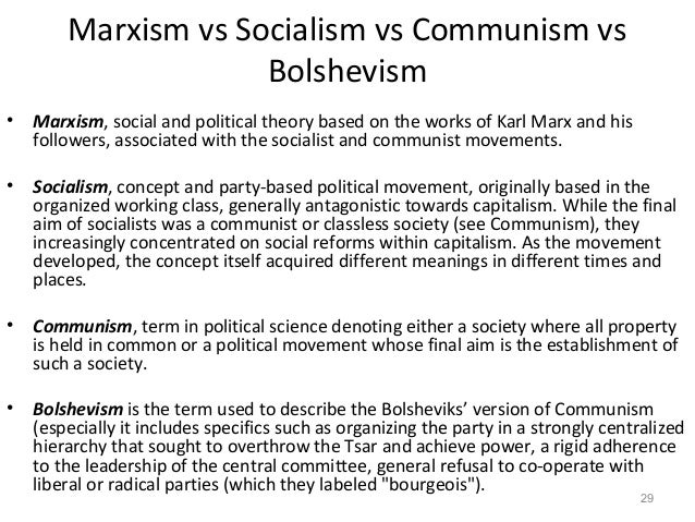 comparison of socialism and communism essay