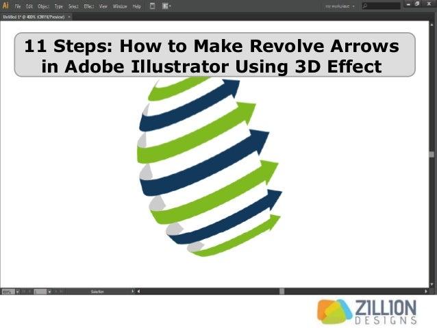 11 Steps: How to Make Revolve Arrows in Adobe Illustrator Using 3D Effect