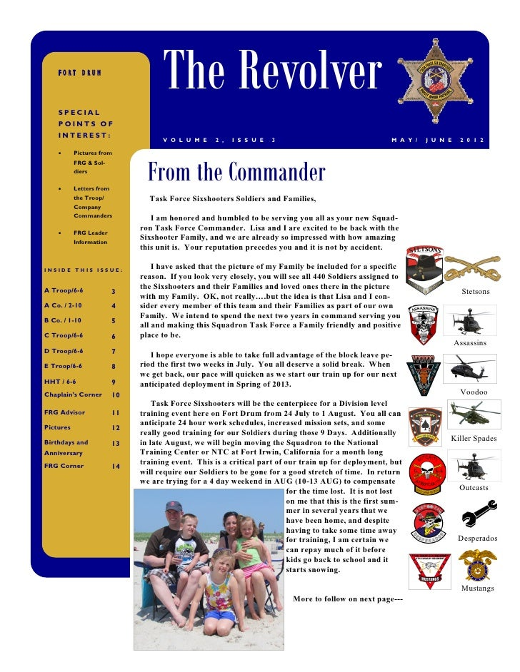 FORT DRUM    SPECIAL                                     The Revolver    POINTS OF    INTEREST:                           ...