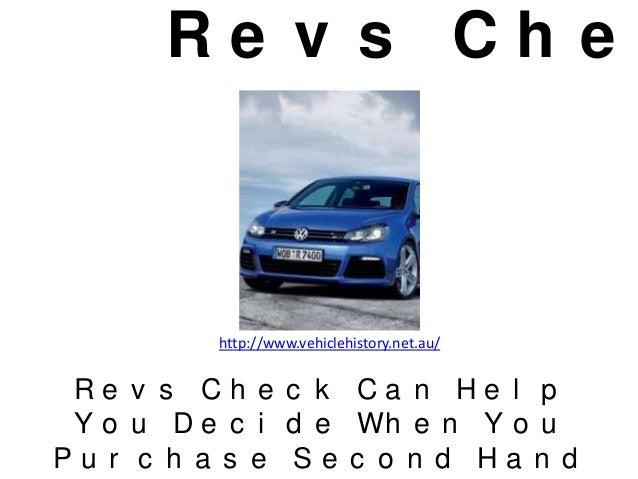 Revs check