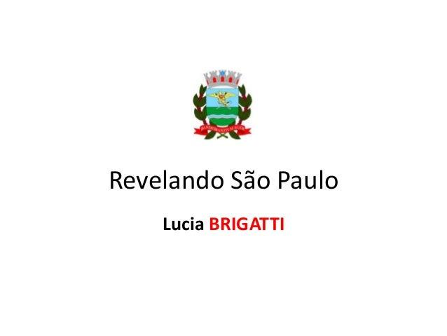 Revelando São Paulo Lucia BRIGATTI