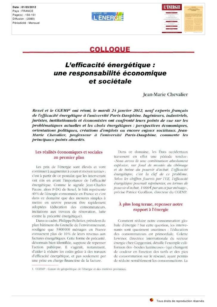 Date : 01/03/2012Pays : FRANCEPage(s) : 150-151Diffusion : (2080)Périodicité : Mensuel                                    ...