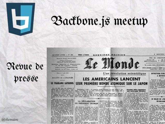 Ba#bone.js meetup Revue de presse @rlemaire