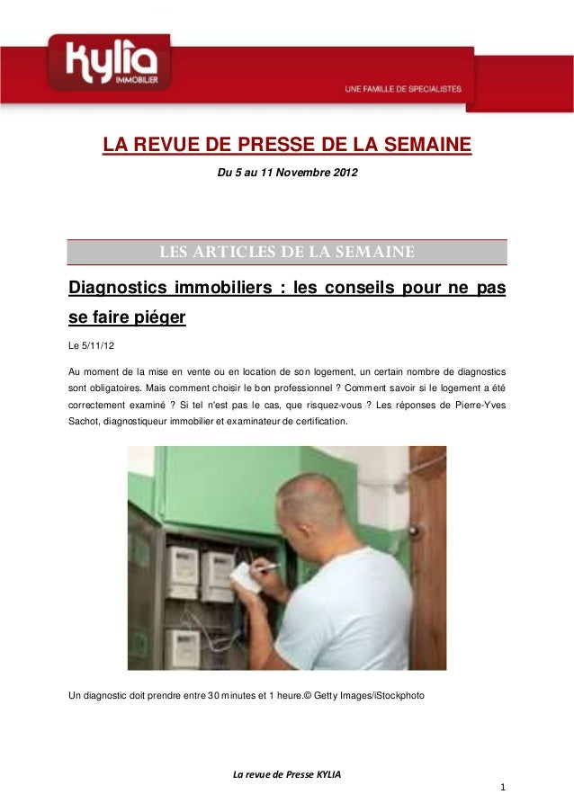 Revue de presse de la semaine 45 2012