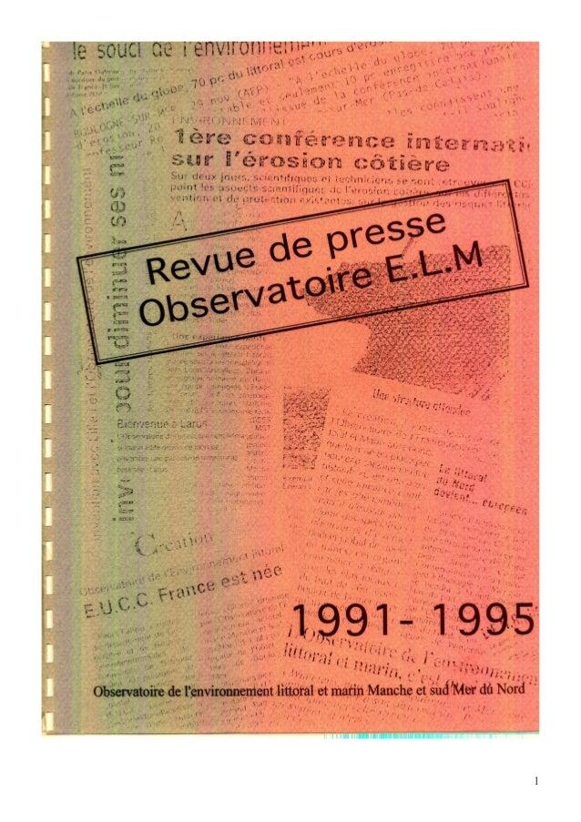 Revue de presse observatoire elm