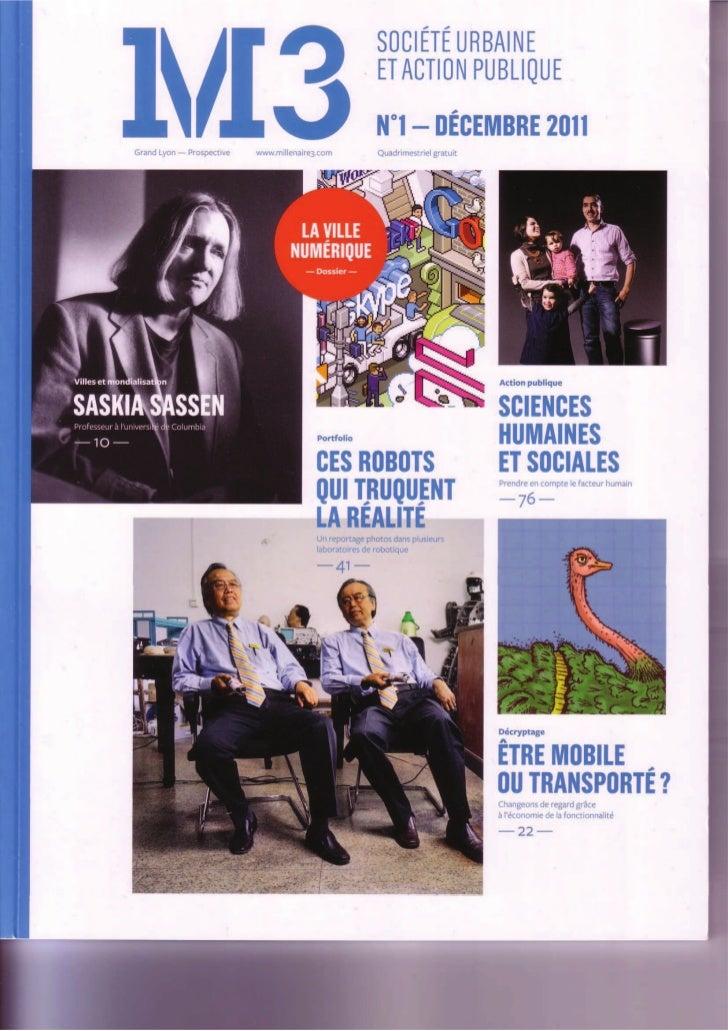 Revue M3 - article Mobilier urbain JPClement