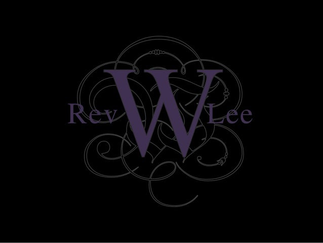Rev w lee slideshare resume bio published o ct 2012