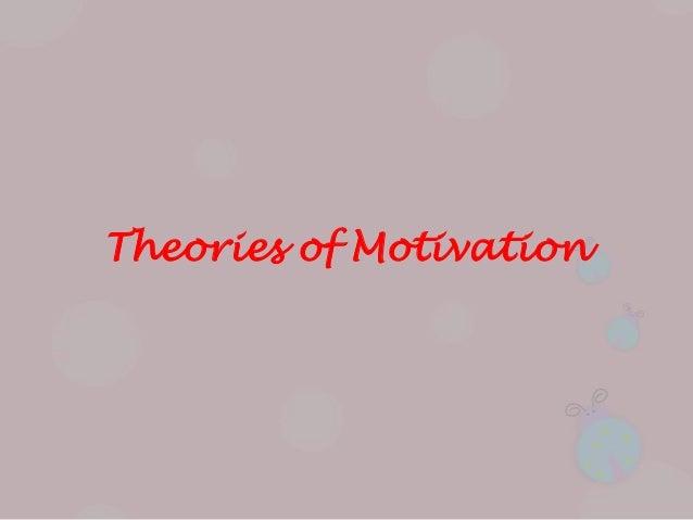 Reward motivational theories