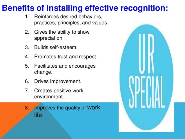 recognition and reward paper Evaluation of reward systems and their impact on performance factor for additional rewards, prestige, and recognition in the workplace your paper on the.