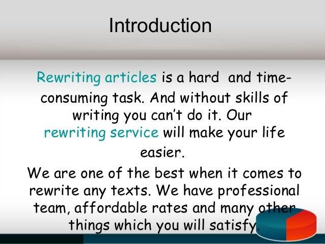 Dissertation rewriting