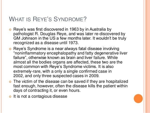 reye syndrome essay