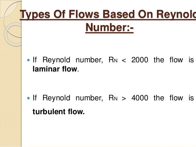 Reynolds Number for Laminar Flow - nuclear-power.net