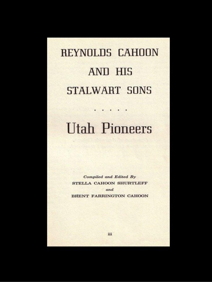 Reynolds Cahoon Part 1