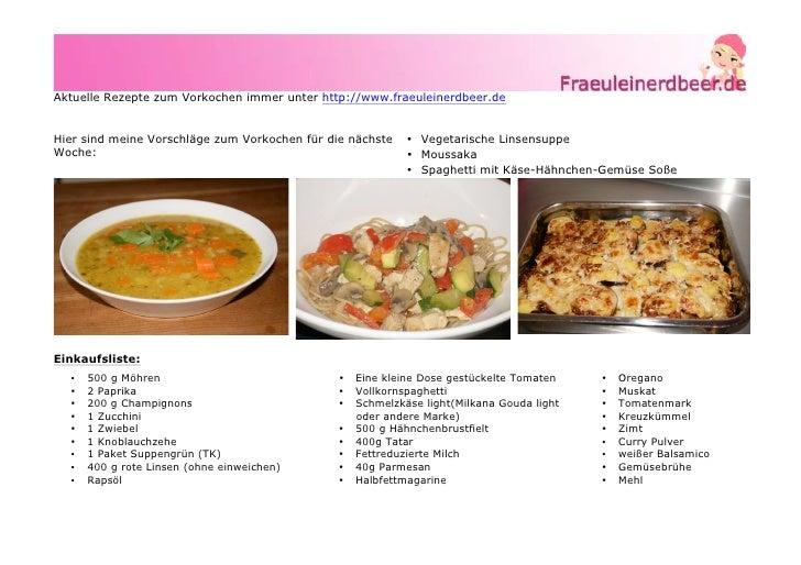 rezepte zum vorkochen rezept kw 7 vegetarsiche linsensuppe moussaka s. Black Bedroom Furniture Sets. Home Design Ideas