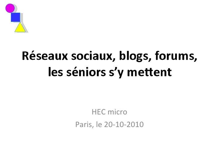 HEC micro Paris, le 20-10-2010