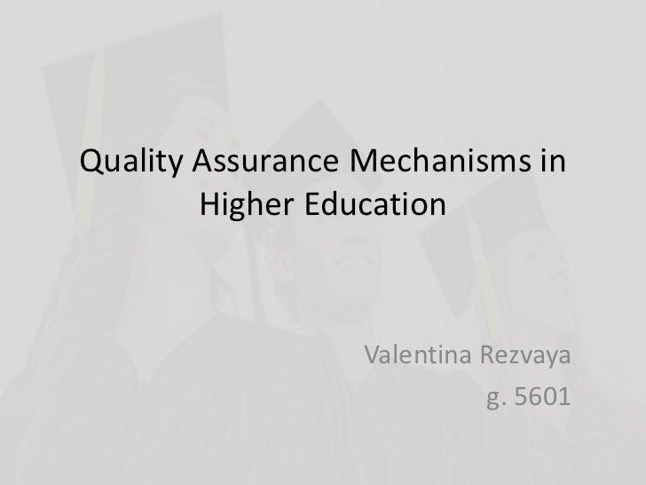 "Valentina Rezvaya, ""Quality Assurance Mechanisms in Higher Education"""
