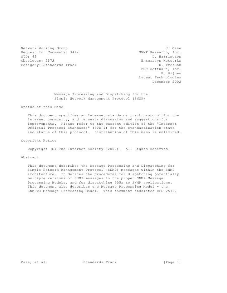 Network Working Group                                             J. Case Request for Comments: 3412                      ...