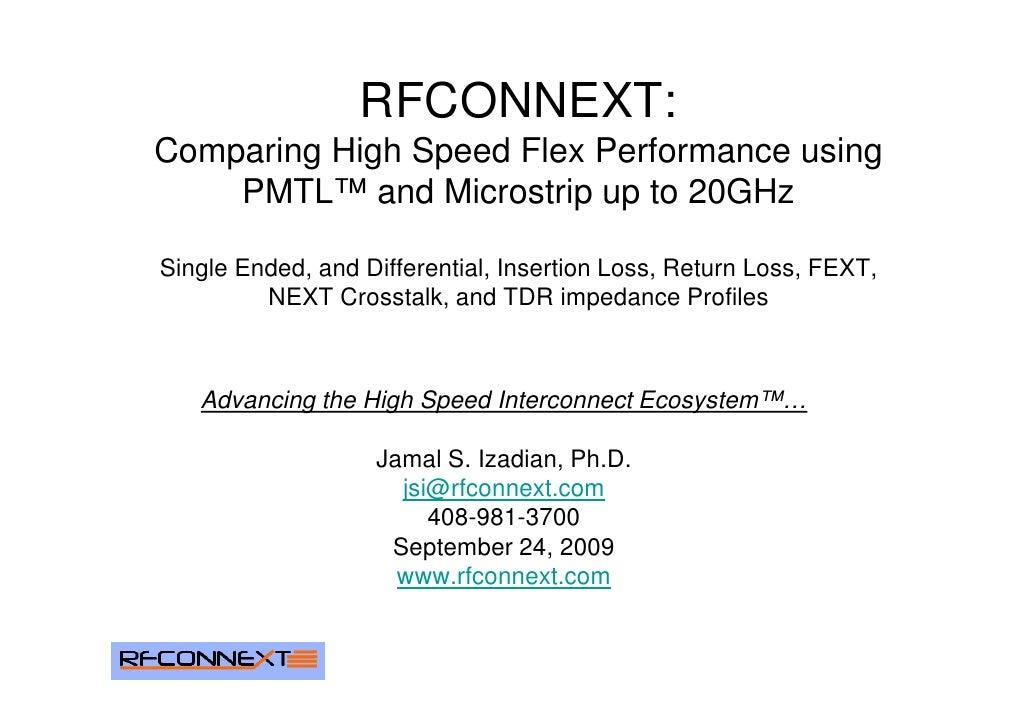 Rfconnext High Speed Flex 20 Ghz Measured Data
