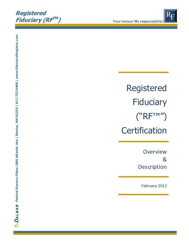Registered Fiduciary Designation by Dalbar