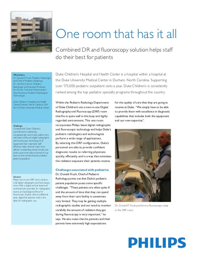 One room that has it all                                             Combined DR and fluoroscopy solution helps staff      ...