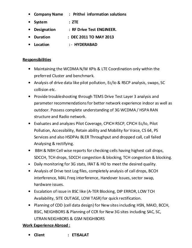Test Engineer Resume Resume Examples Sample Resume Of Software Tester