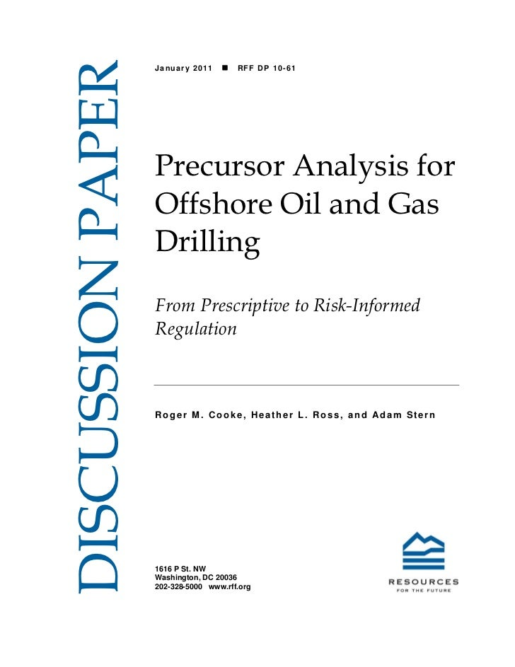 DISCUSSION PAPER                   January 2011       RFF DP 10-61                   Precursor Analysis for              ...