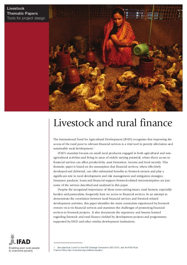 LivestockThematic PapersTools for project design                           Livestock and rural finance                    ...