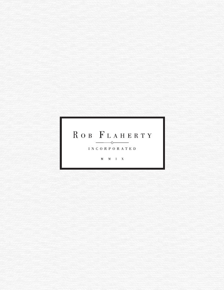 Rob Flaherty Inc. Marketing Brochure