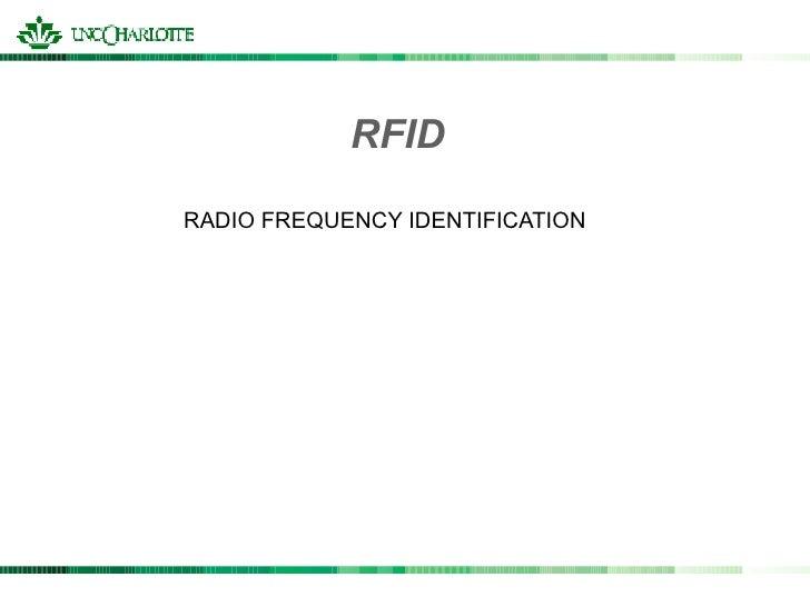 RFIDRADIO FREQUENCY IDENTIFICATION