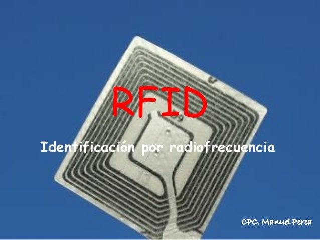 RFIDIdentificación por radiofrecuencia