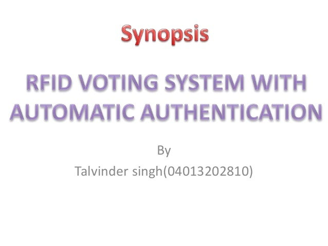 Automatic RFID Voting System with user authentication