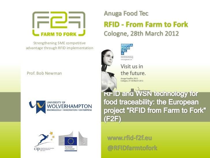 Anuga Food Tec                                        RFID - From Farm to Fork                                        Colo...