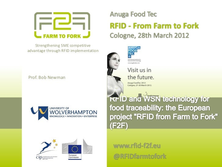 RFID F2F Anuga FoodTec 2012 - Speakers' Corner: RFID and WSN for food traceability (wine and fish)