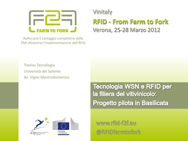 Vinitaly                                             RFID - From Farm to Fork                                             ...