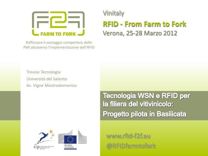 RFID F2F Vinitaly 2012